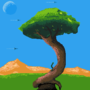 Game background pixel art