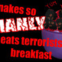 Snake eats terrorists! by Mozaralio