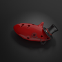Ocarina with a tophat and mono
