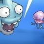 shark and jellyfish comic