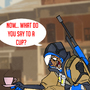 What do you say to a cup: Overwatch Fan art