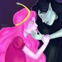 marceline the vampire queen and princess bubblegum by Taitanator