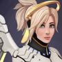 Overwatch Mercy by Moxy-Art
