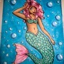 Cute merm copic marker illustration