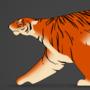 Stylized Tiger Run Cycle by BaukjeSpirit