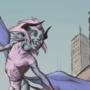 Demon flying by Libernico
