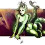 Squidling Girl Painting by Skaalk