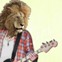 Lion Musician - Bamboo by HugoVN