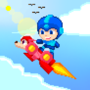 Pixel Dailies : Megaman Surfing by TriXeL