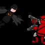 Batman vs DeadPool by VladimirLyuty