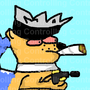 Dog smoking weed by Controlllng