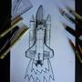 2-D to 3-D challenge [Rocket ship] by SpeedScape