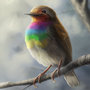 Robin rainbowbreast by Kayas-Kosmos