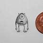 mike wazowski Miniature Pencil Drawing by Damrock