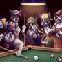 Boston Dogs Shooting Pool by BlackUniGryphon