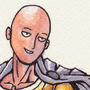 Saitama (One-Punch Man) ink and watercolour