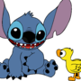 Stitch and Duck Vector by FlightFeatherStudio