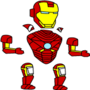 Separated Picture of Iron Man by Shuinvy