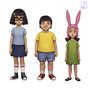 Tina, Gene, and Louise Belcher by Joifish