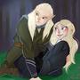 Legolas and Luna Lovegood by Taitanator