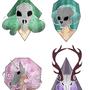 Skull girls sticker set by Taitanator