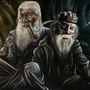 Gandalf and Dumbledore by Tylerroyle10