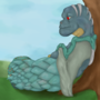 Dragonoid under A tree