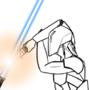 Master Matu vs. Darth Sados (Line-work) by MasterWiggins