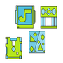 Iconos de Geometry Dash 1