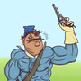 Posing officer (caricature) by SondreS
