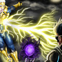 Lightning Man V.S. The WIng by WillMayesArt