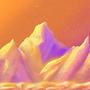 Retro mountains by Stellarian
