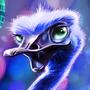 ostrich disco by FranckM