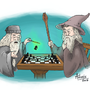 Dumbledore and Gandalf playing chess! by Cat-Nap