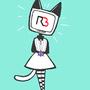 Void neko / Radio head (right back cat )