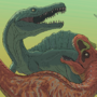 Dino Fight by fabianlpineda
