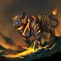Lava Tiger by ArtDeepMind