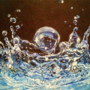 Acrylic water droplet.