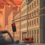 City Street Under Attack - Background Art by zeedox