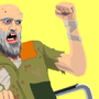 angry homeless man by Totaljerkface