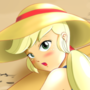 AppleJack (Girls on the beach) MLP-EQGirls by boobieboom