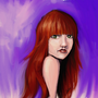 Red Head Girl with Digital Oil by V1KK1