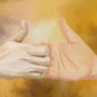 """""""Hand by hand""""- Jazza's challenge of the month (Tradigital) entry"""