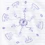 Art #46 -- Multi'-point Splatter-break Orbit.