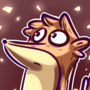 Rigby doodle from Regular Show by KingOfFatCats