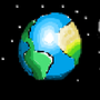 16 bit Earth and moon by BluestoneTE
