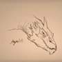 Smaug sketch by MagnusRosenbergChris