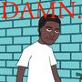 Kendrick Lamar's DAMN. album cover by DialecticHazard