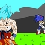 Goku VS Sonic by SuperBlue4Broly