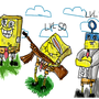 evolution of spongebob by Flutato